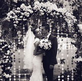 Black and white photo of married couple Stock Photo