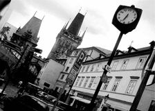 Black and white photo Prague Royalty Free Stock Image