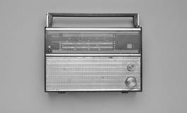 Black and white photo of a retro radio receiver.  Royalty Free Stock Photos