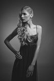 Black and white photo of sensual woman Stock Photos