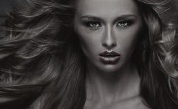 Black&white photo of sensual woman Royalty Free Stock Photos
