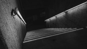 Black And White Photo Of Staircase stock images