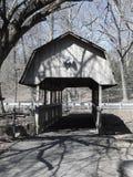 Black and White of Covered Bridge. Black and white photograph of old covered bridge; Cohanzick Zoo, Bridgeton, NJ; New Jersey spring 2018 Stock Image
