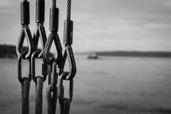 Black and White Photography of Chains Stock Photos
