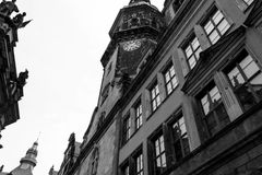 Black and white photography. Dresden in Germany. stock photos