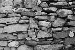 Details of a handmade stone wall Royalty Free Stock Photos