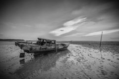 BlackWhite Photos panorama of wonderful batam bintan island royalty free stock photo