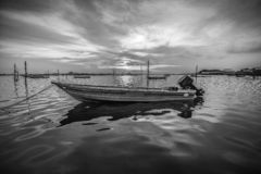 BlackWhite Photos panorama of wonderful batam bintan island stock image