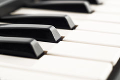 Black and white - Piano keyboard closeup Royalty Free Stock Photography