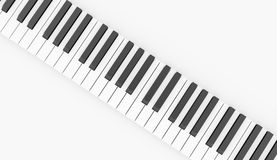 Black and white piano keyboard concept rendered Royalty Free Stock Photos