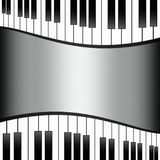 Black and white piano keys background wallpaper template illustration Royalty Free Stock Photos