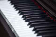 Black and white piano keys Royalty Free Stock Photography