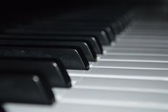 Black and white piano keys Royalty Free Stock Image