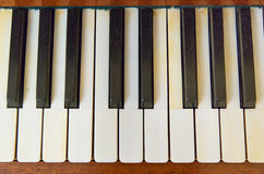 Black and white piano keys Royalty Free Stock Image