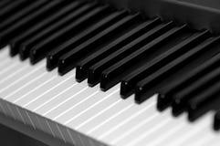 Black and white piano keys. Black and white electric piano keys stock photos