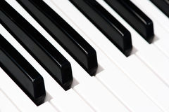 Black and white piano keys Royalty Free Stock Photo