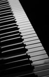 Black and white piano. With a nice angle Royalty Free Stock Photos