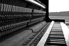 Black and white piano Royalty Free Stock Photography