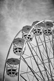 Black and white picture of Ferris wheel cars. Black and white picture of Ferris wheel cars, childhood concept Royalty Free Stock Photography