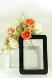 Black and White picture frame Royalty Free Stock Image
