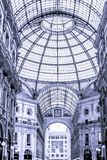 Black and white picture from inside the Gallery stock photography