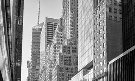 Black and white picture of Manhattan buildings. Royalty Free Stock Image