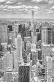 Black and white picture of New York City skyline. Royalty Free Stock Image