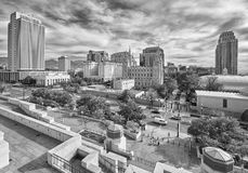 Black and white picture of Salt Lake City downtown. Black and white picture of Salt Lake City downtown, Utah, USA Royalty Free Stock Photo