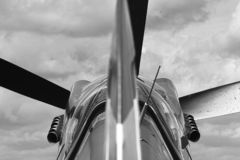 Static shot of the legendary Spitfire airplane stock photography
