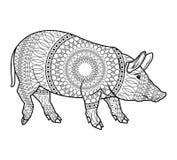 Black and white pig design Stock Photos