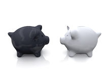 Black and White Piggy Bank Stock Image