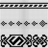 Black and white pixel pattern Royalty Free Stock Images