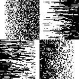 Black and white pixelation, pixel gradient mosaic, pixelated vector backgrounds Stock Photo