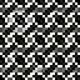 Black and white pixels of polygons Abstract seamless geometric background Stock Photos