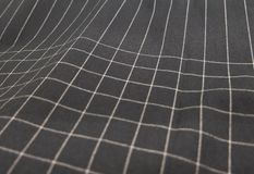Black and White Plaid Fabric Pattern Background Royalty Free Stock Photos