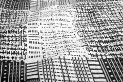 Black and white plaid pattern Stock Photos