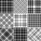 Black and white plaid patterns Stock Photo