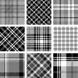Black and white plaid patterns Royalty Free Stock Photography