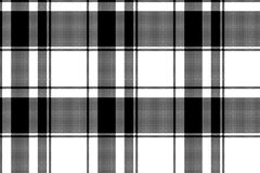 Black white plaid seamless pixel pattern. Vector illustration royalty free illustration