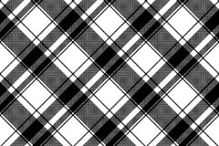 Black white plaid seamless pixel pattern. Vector illustration Royalty Free Stock Photography