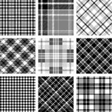 Black & white plaid set Stock Images