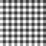 Black and white plaid tablecloth Stock Photo