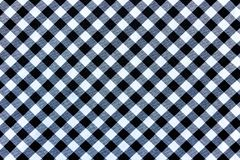 Black and White Plaid Textile Fabric Texture for Background stock photo