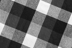 Black and white plaid Royalty Free Stock Photos