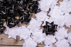 Black and white plastic flower Stock Photos