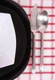 Black and white plate Royalty Free Stock Photo
