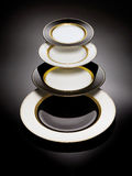 Black and white plates Royalty Free Stock Photos