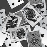 Black and white playing cards background Stock Photos