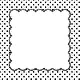 Black and White Polka Dot Background with Embroidery Stock Photos