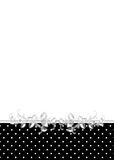 Polka Dot Border Royalty Free Stock Photography